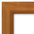 teak finish - flat frame and casings