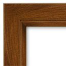 dark walnut finish - frame and casings available flat or round