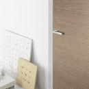 filo a filo - door code J-10 walnut finish- aluminium casings- Luo handle
