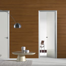 filo a filo - doors code J-31 white cream polished glass- aluminium casings- Hoppe handle