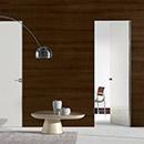 filo zero - doors code JZ-31 white cream polished glass- Hoppe handle