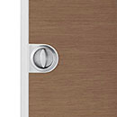 flush handle for sliding doors, with latch- mat or polished chrome finish