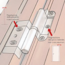 Portek patented hinge- it allows the in-plane and side-to-side adjustment