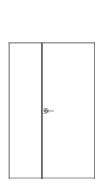 porta doppio battente asimmetrico